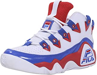 Fila Men's Grant-Hill-1 Sneakers High Top Basketball Shoes White Red/Prince Blue