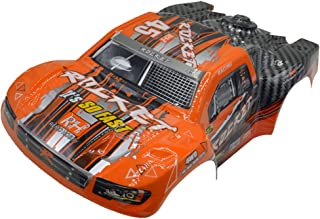 Cheerwing D2603 Orange Short Course Body Shell RC Car Parts for REMO 1/16 Scale 1621 RC Truck