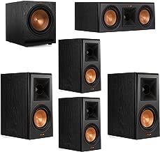 Klipsch 5.1 System with 2 RP-500M Bookshelf Speakers, 1 Klipsch RP-500C Center Speaker, 2 Klipsch RP-500M Surround Speakers, 1 Klipsch SPL-120 Subwoofer