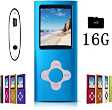 $20 Get G.G.Martinsen Blue Versatile MP3/MP4 Player with a 16GB Micro SD Card, Support Photo Viewer, Mini USB Port 1.8 LCD, Digital MP3 Player, MP4 Player, Video/Media/Music Player
