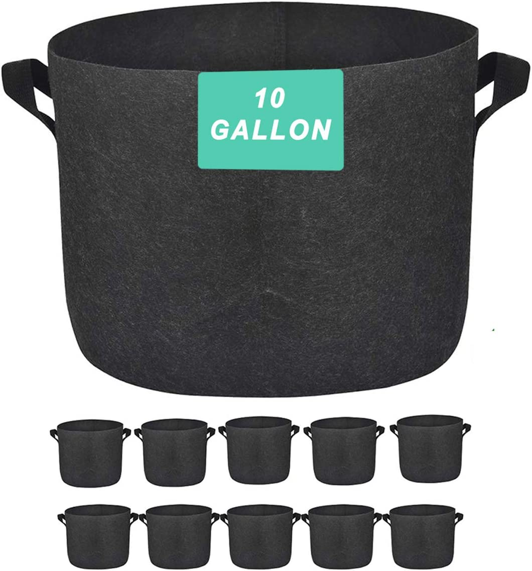 10 Gallon Plant Bags wholesale Nonwoven Thick shopping Handles Pot with Fabric Bag