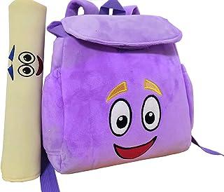 12inch Dora Explorer Backpack Rescue Bag with Map,Pre-Kindergarten Toys Purple Plush Backpack (Crystal purple Dora Backpack)