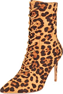Cambridge Select Women's Pointed Toe Lace-Up Stiletto High Heel Ankle Bootie