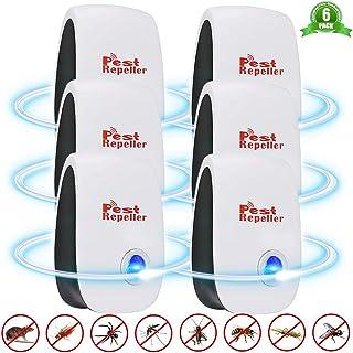 Ultraljud skadedjursavvisande, BESTZY 6-pack elektronisk plugg i mus och råttavstötare, skadedjursbekämpning insekt och sp...