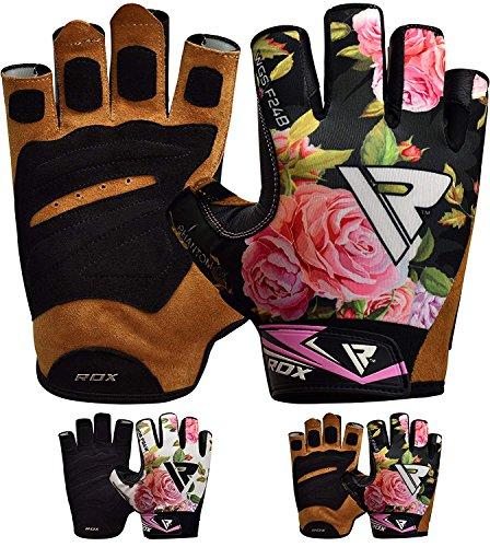 RDX Fitness Handschuhe Damen Trainingshandschuhe Frauen Handgelenkstütze Sporthandschuhe Gewichtheben krafttraining Workout Bodybuilding Gym Gloves (MEHRWEG)