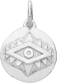 Ciondolo moderno in argento Sterling 925 con occhio malvagio WJS30282