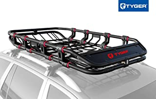 """Tyger Super Duty Roof Cargo Basket (L 68"""" x W 41"""" x H 8"""") Luggage Carrier Rack with Removable Extension Kit 
