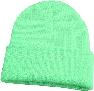 Shineweb Men Women Beanie Knit Cap Hip-Hop Winter Warm Elastic Cuff Hat