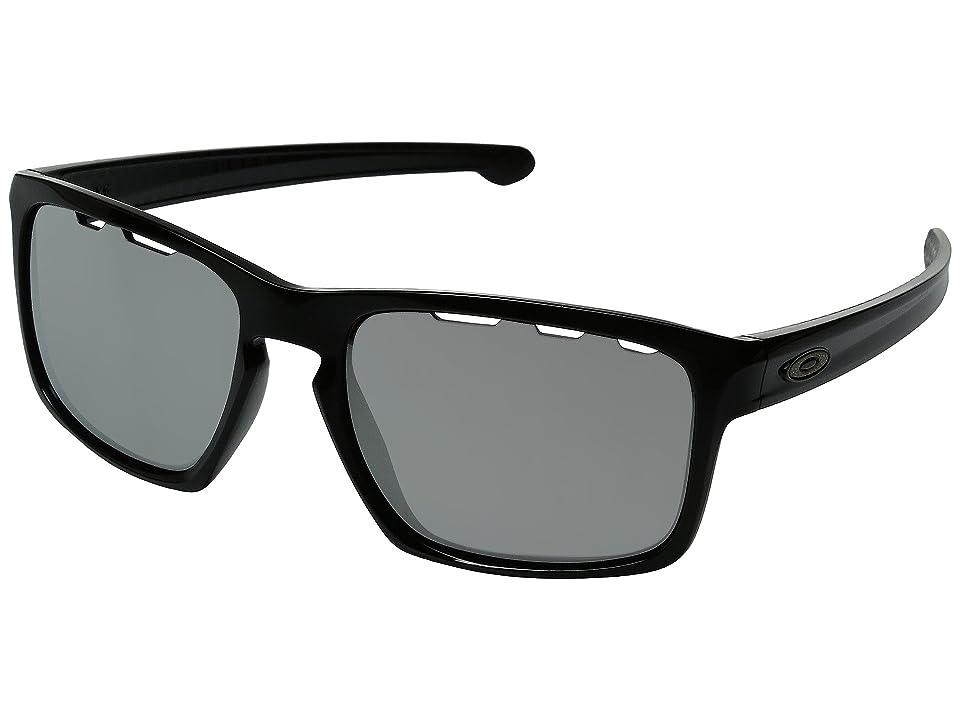 Oakley Sliver (Polished Black/Chrome Iridium Vented) Sport Sunglasses