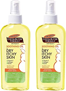 Cocoa Butter Formula with Vitamin E, Soothing Oil for Dry, Itchy Skin | Dermatologist Approved | Pump Spray Bottle 5.1 oz -2 Pack