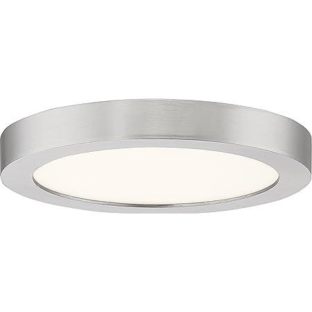 Quoizel Ost1708bn Outskirt Modern Super Flush Mount Ceiling Lighting 1 Light Led 12 Watts Brushed Nickel 1 H X 8 W