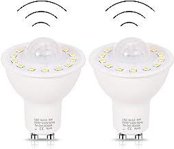 GU10 PIR Motion Sensor LED Bulbs 5W Equivalent 50W 500Lm High Brightness Bulbs for Stairs Garage Corridor Walkway Hallway ...