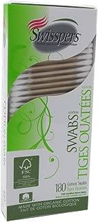 Swisspers Cotton Organic Swabs 180 Count Wooden (3 Pack)