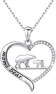 Sterling Silver For Mom Necklace Mothers Day Gift Mama Bear Pendant Necklace or Bracelet for Mum