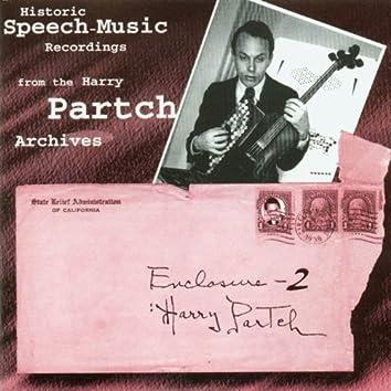 Partch, H.: Historic Speech Music Recordings (Enclosure 2)