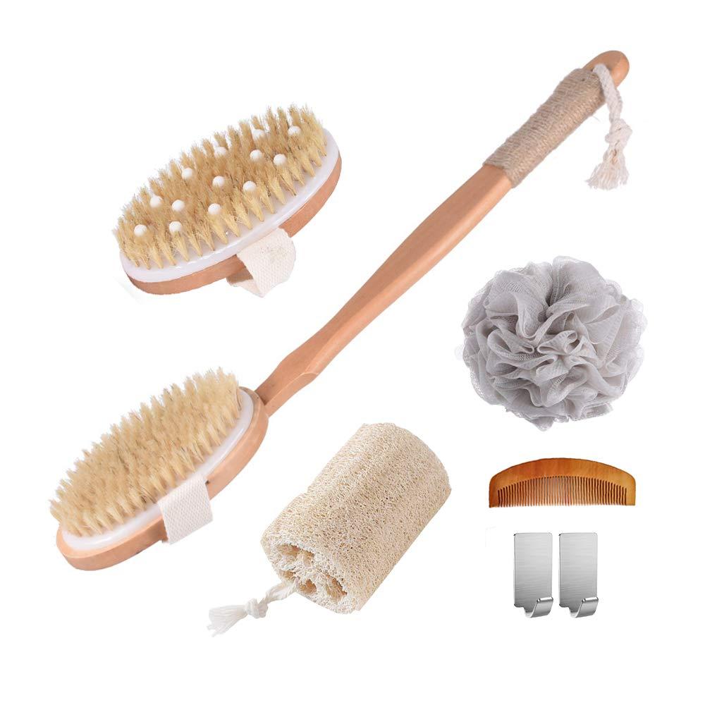 Spclsim Bath Brush Super sale period limited Set Shower Body Back Discount mail order Scrubber Scr