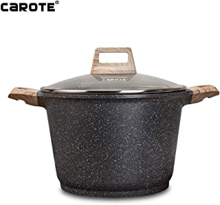 Carote 9.5 inch Stone-Derived Non-Stick Granite Coating Casserole Stockpot with lid