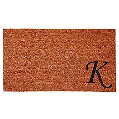 Home & More 153622436K Urban Chic Monogram Doormat  (Letter K), Black/Natural, 24  x 36