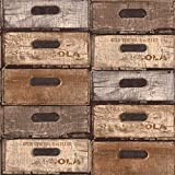Saint Honore - Papel pintado diseño cajas maderas