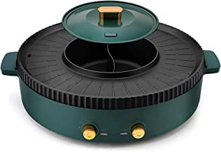 KAUTO Poêle à Frire Multifonction Portable pour Barbecue à Double Usage Hot Pot One Pot électrique Hot Pot Cuisson électri...