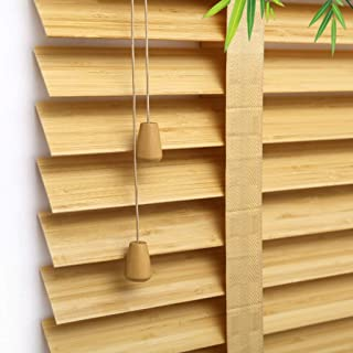 Wide Window Blinds, Roll Up Blinds,Light Filtering Bamboo Sun Shade - Blinds Roller Shades for Home,Office,Kitchen, Teahouse,Wooden Color ZHANGAIZHEN (Color : Bamboo, Size : 40×40cm)
