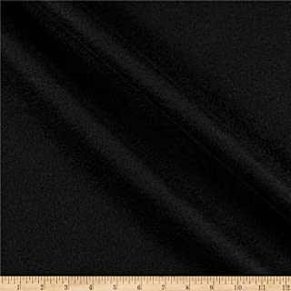 Textile Creations Double Brushed Solid Fleece Fabric, Black, Fabric By The Yard