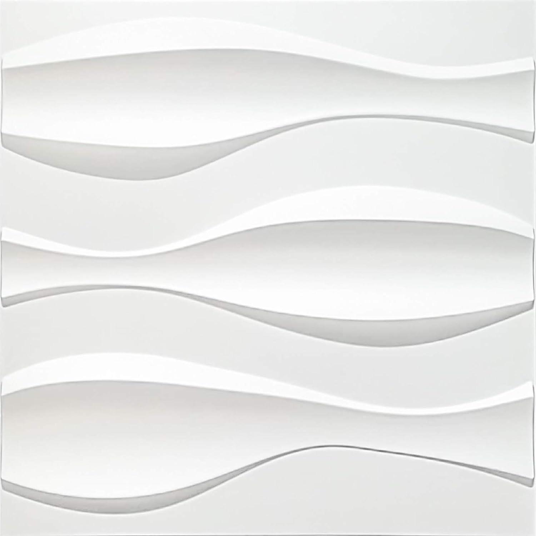Art3d Textures PVC Omaha Mall unisex Wall Panels Big 19.7