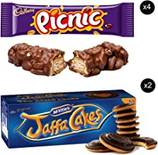 McVities Jaffa Cakes Two Boxes + Cadbury Picnic Bar | Total 4 bars of British Chocolate Candy - Cadbury Picnic Bars 48.g each