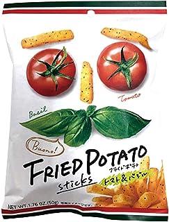 ファミリーマート限定 ライドポテト トマト バジル Fried Potato sticks basil tomato buono! 50gx3袋 スナックお菓子 期間限定