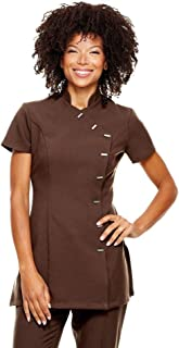 1b6c8fb26ac8 Simon Jersey Ladies Chocolate Brown Asymmetric Cap Sleeve Tunic Top