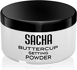 Sacha Buttercup No Color Setting Powder. Mask-Friendly with No White Cast or Photo Flashback. Fills in Fine Lines & Pores....