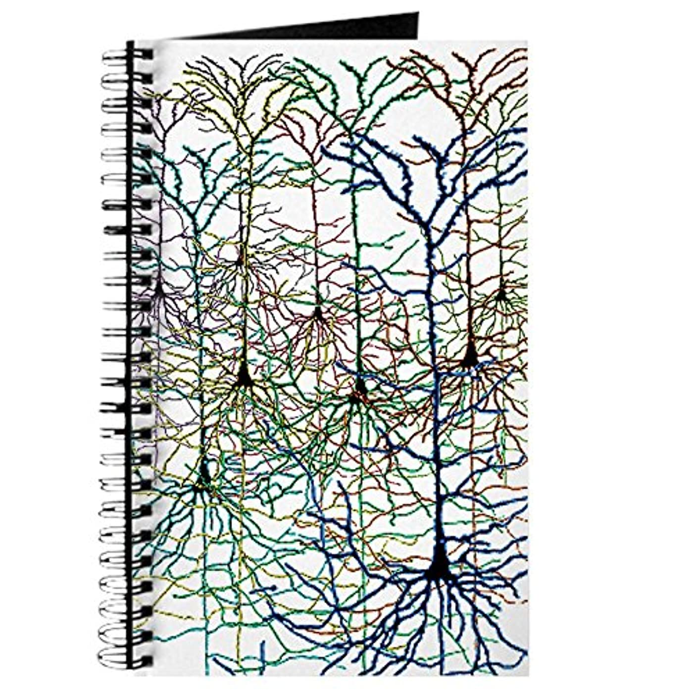 CafePress Neuron Spiral Bound Journal Notebook, Personal Diary, Dot Grid