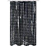 MSV cloruro de polivinilo Little Puntos Cortina de Ducha, Negro/Transparente, 200x 180cm