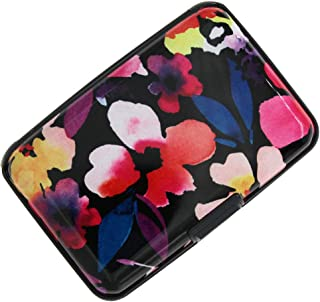 RFID Blocking Credit Card Holder Case Protector Wallet Hard Slim Travel Purse for Women with 6 Slots Portable Wallet