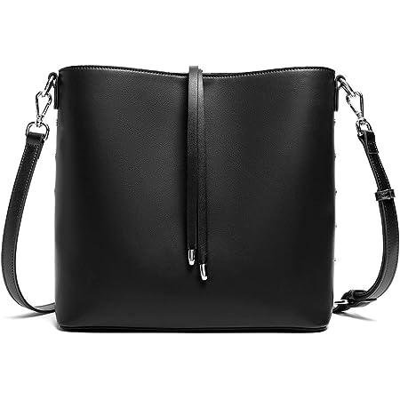 WESTBRONCO Leder Handtasche Damen Schultertaschen Hobo Taschen Designer Umhängetasche Schwarz