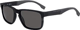 BOSS by Hugo Boss Men's 0916/S Rectangular Sunglasses, MATT Black, 57 mm