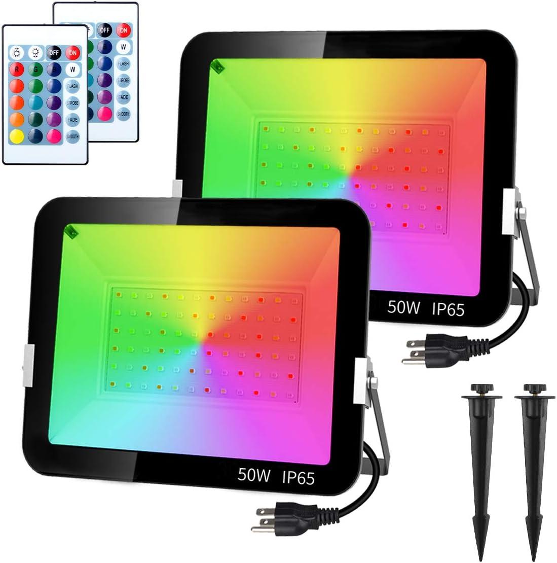 T-SUNUS Finally Gorgeous resale start 50W RGB Flood Light Changing Color Outdoor LED Spot