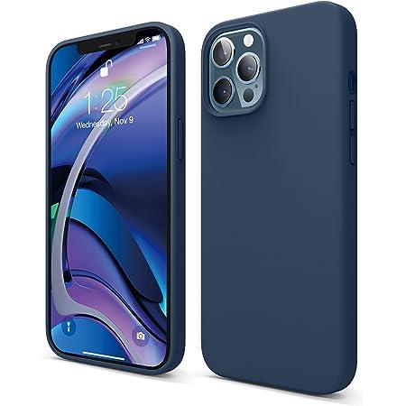 "elago Silicona Líquida Funda Compatible con iPhone 12 Pro MAX Case (6.7""), Silicona Premium, Protección Funda Protectora 3 Tapas Estructura (Azul Oscuro)"