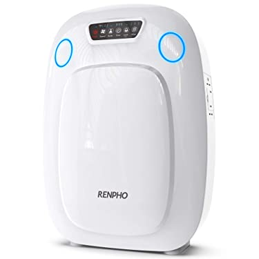 RENPHO H13 HEPA Air Purifier for Home Large Room 330 SQ.FT, Air Purifier for Allergies and Pets, Air Cleaner for Office Kitchen, Eliminate Odors Smoke Mold Pollen Dust for Bedroom, Auto Mode