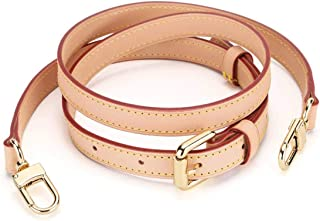 Replacement Vachetta Leather Strap for Speedy Neverfull Nano Adjustable Cross Body DIY Strap Width 7/10 in (Width 1.8cm(7/10 in))