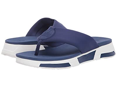 FitFlop Sporty Logo Toe-Thong (Midnight Navy) Women