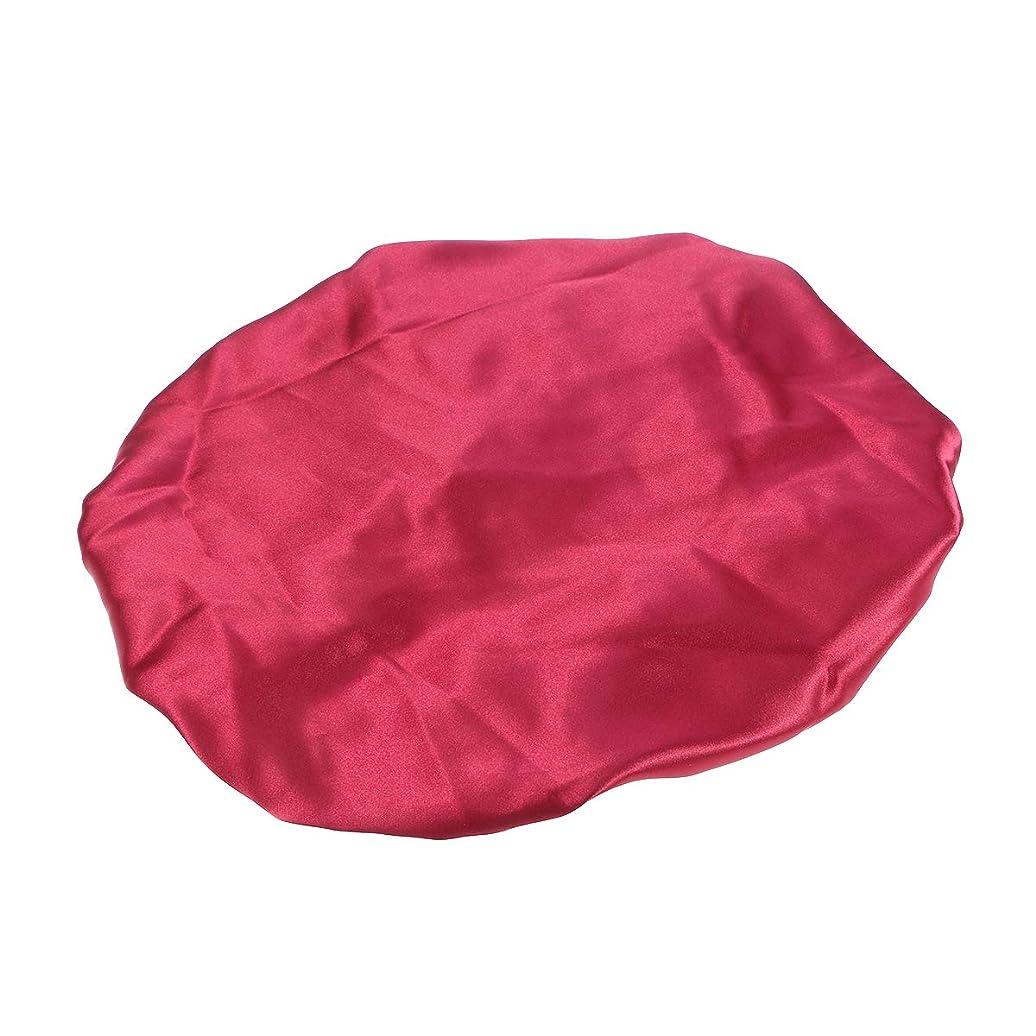 クライストチャーチあらゆる種類の合併SUPVOX サテンスリーピングキャップ二重層ボンネットシルク巾着帽子ヘッドカバー抜け毛ケモキャップ女性用