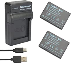 Newmowa   DMW-BCG10 Replacement Battery  2-Pack  and Portable Micro USB Charger kit for Panasonic DMW-BCG10  DMW-BCG10E  DMW-BCG10PP and Panasonic Lumix DMC-3D1  DMC-TZ6  DMC-TZ7  DMC-TZ8  DMC-TZ10
