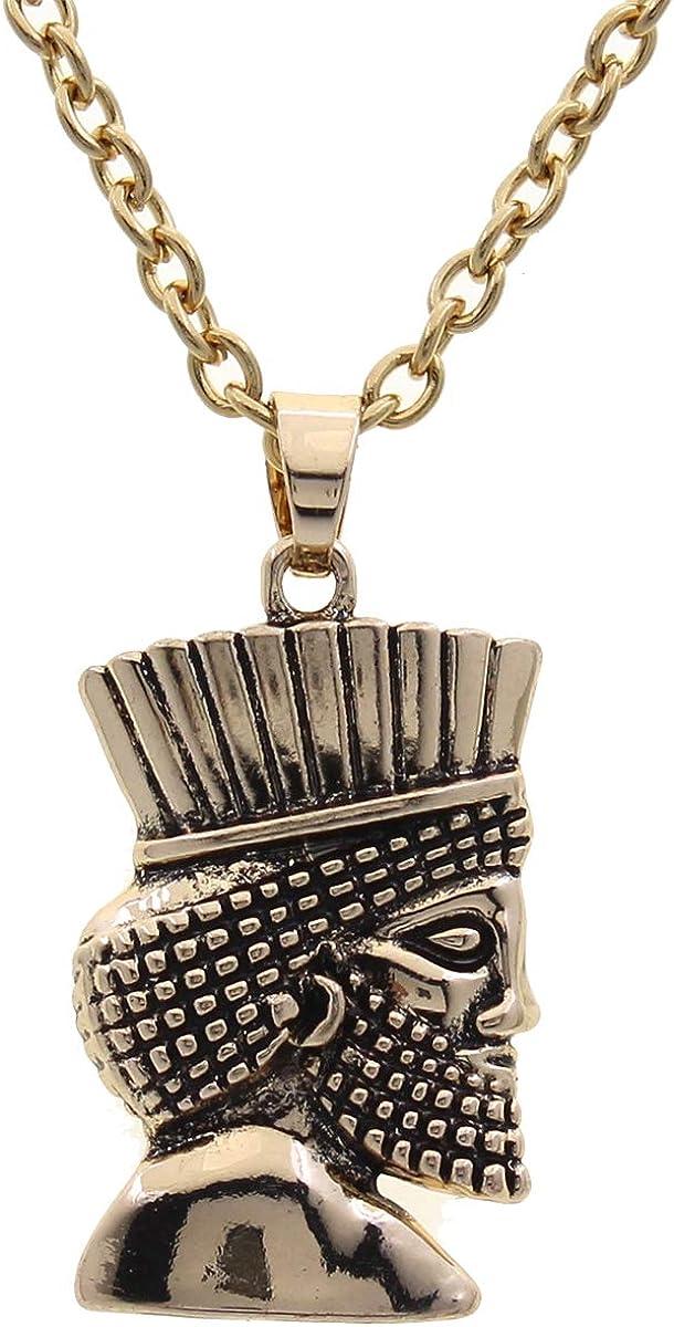 Asoodehdelan Gold Pt Cyrus The Great Necklace Chain Persian King Kourosh Persia Farsi Gift Art