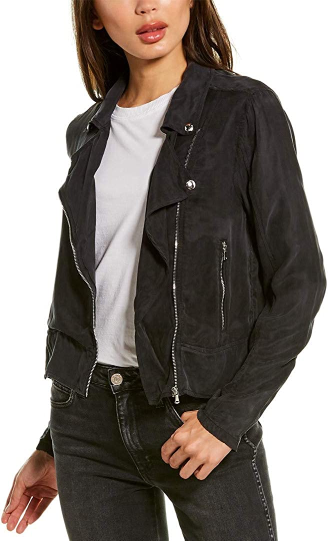 [BLANKNYC] womens Tencel Moto Jacket