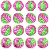 Norme 16 Pieces Washing Ball Lint Remover Balls Laundry Wash Balls Magic Hair Removal Plastic Laundry Ball to Save Drying Time (Rose Red Green)