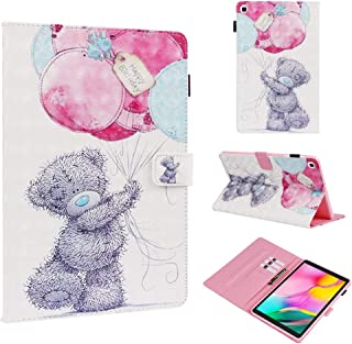 Dteck Cute Case for Samsung Galaxy Tab A 10.1 2019 SM-T510, 3D Cartoon Slim Lightweight PU Leather Multi-Angle Stand Case ...