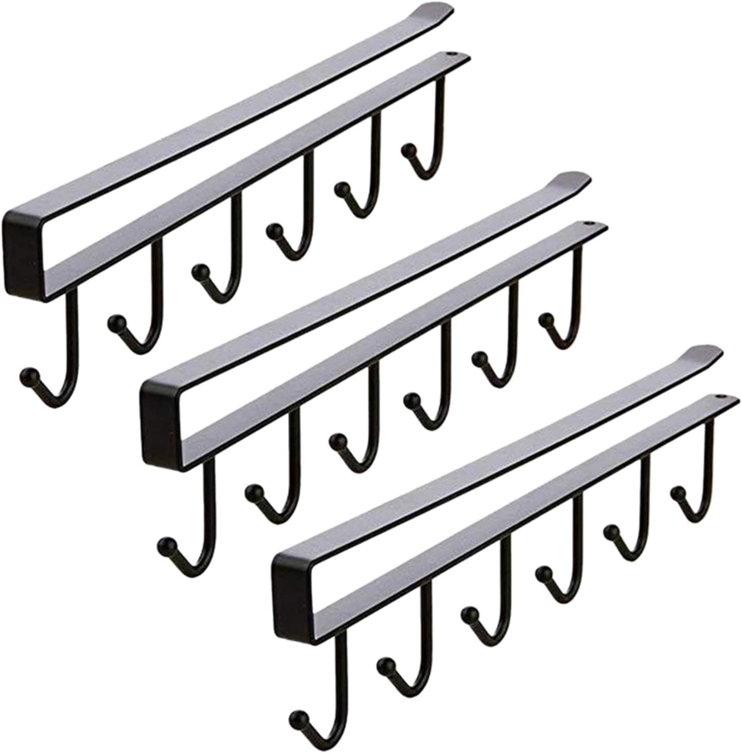 ZXCVB Multi-Function 3pcs Indefinitely X 6 Cheap mail order specialty store Hooks Under Holder Cof Mug Cabinet