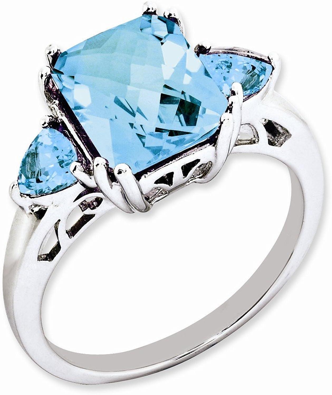 Sterling Silver Light Swiss bluee Topaz & Sky bluee Topaz Ring