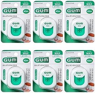 【まとめ買い】GUM(ガム)・デンタルフロス (ワックス) 40m【×6個】